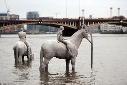 Thames Horses underwater