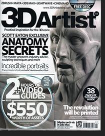 3d Artist cover, Scott Eaton