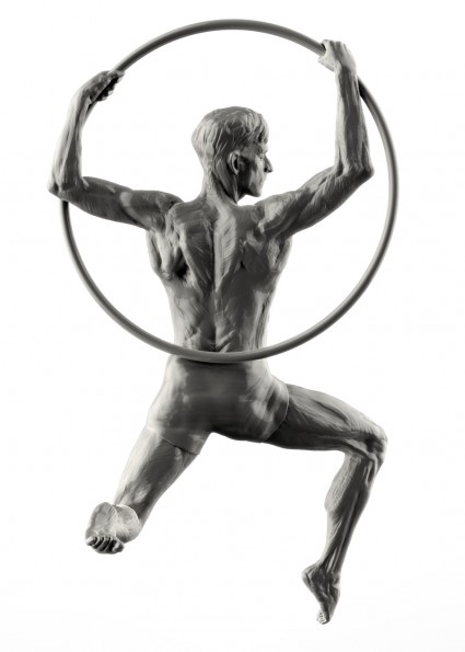 back view, Sculpting from Bodies in Motion II, Aerial Hoop, Scott Eaton in ZBrush