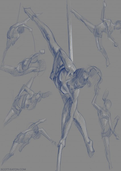 Drawing from Bodies in Motion - Aerial Ropep
