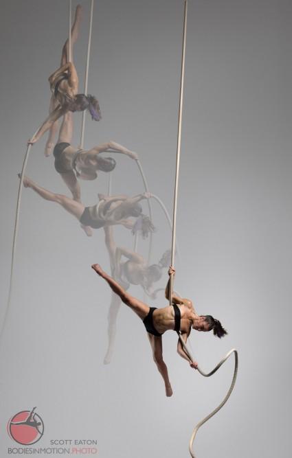 Female Aerial Rope - Scott Eaton's Bodies in Motion