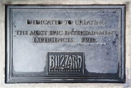 blizzard dedicated to entertainment plaque