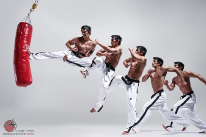 Tae Kwon Do - Jumping Side Kick sequence from Scott Eaton's Bodies in Motion.