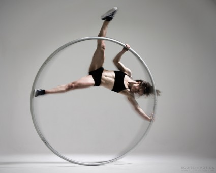 Cyr Wheel in motion. Scott Eaton's Bodies in Motion photography project