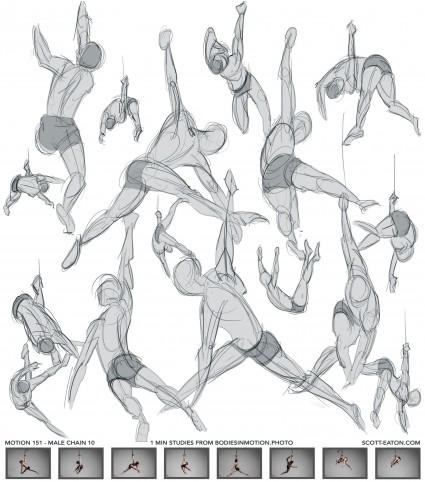 Gesture drawings, 1 minute poses