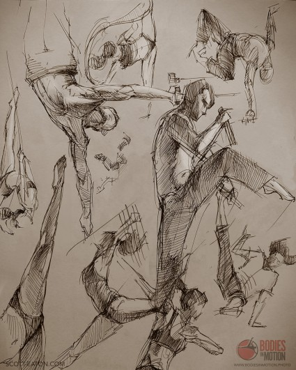 Drawing from Bodies in Motion - www.bodiesinmotion.photo