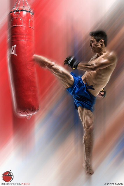 Kickboxing at Scott Eaton's Bodies in Motion. Dynamic reference for artists.