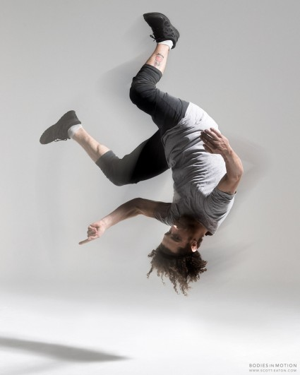 Breakdance, bboy back flip - Bodies in Motion photography, Scott Eation