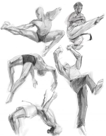 Dynamic drawing practice from BodiesinMotion.photo