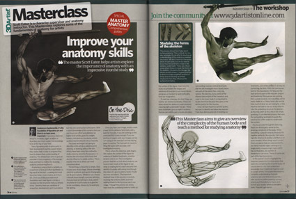 Scott Eaton's anatomy for artists masterclass in issue 44 of 3dArtist magazine