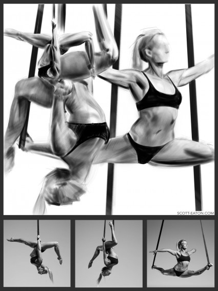 value study from the scott eaton's bodies in motion library