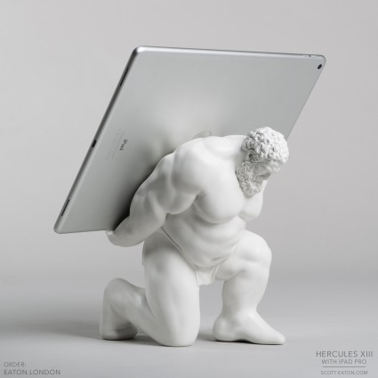 Hercules XIII tablet stand with ipad pro - alt view