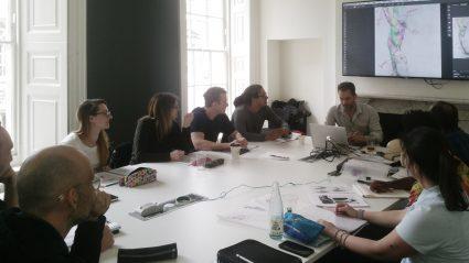 Scott teaching anatomy at somerset house, london