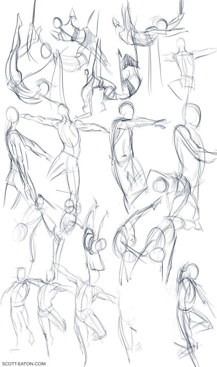 30 second poses from Scott Eaton's Bodies in Motion