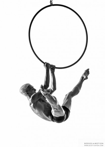 Scott Eaton's Bodies in Motion Photography - Aerial Shoot, Male Hoop.