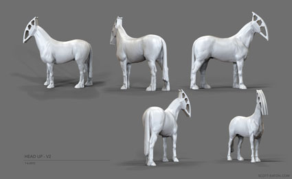 approved designs for Headup horse.