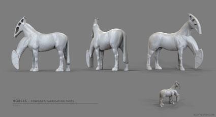 Thames Horses body reuse. Designed in ZBrush.