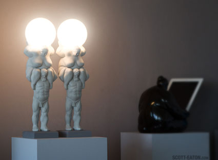 Testing the Venus Lamps at the Studio