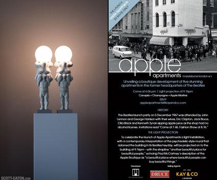 Apple Apartments, Baker Street. Venus Lamp launch