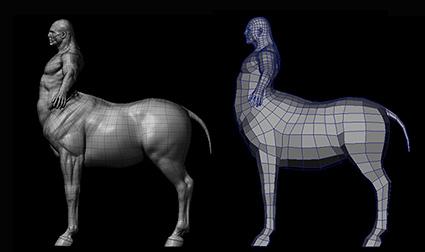 Progression of the Centaur Base Mesh