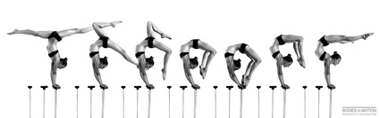 Bodies in Motion photography, dynamic figure reference for artists - Female Hand Balancing and Contortion