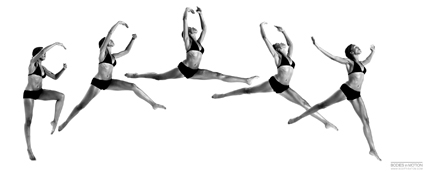 Bodies in Motion photography, dynamic figure reference for artists - Female Ballet