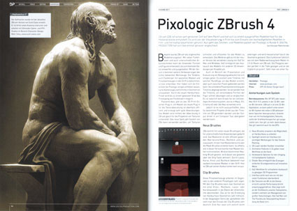 Digital Production Magazine - Zbrush 4 review article