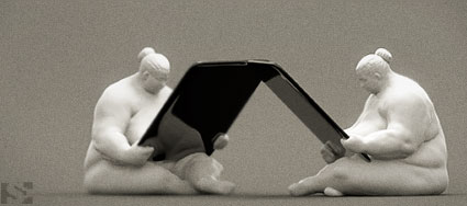 digital sculpture of the ipad dock
