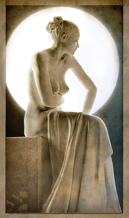 female figure study in zbrush