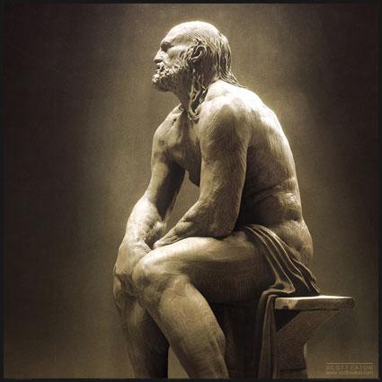 Hephaestus Digital Sculpture - Scott Eaton 2010 - Zbrush