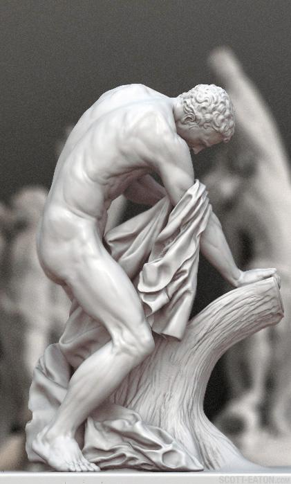 digital sculpture of Milon de Crotone