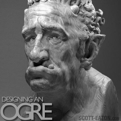 Ogre Digital Sculpture - early concept design