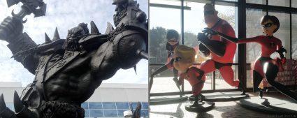 contrast in styles - orcs versus cartoons