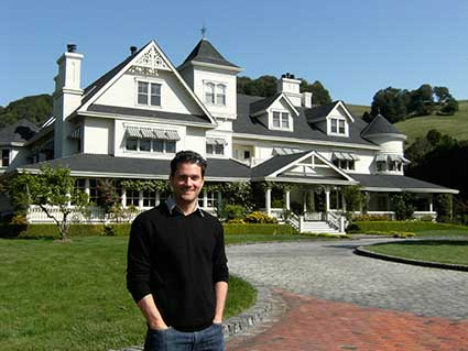A picture of Scott at skywalker Ranch from an earlier lecture tour at Lucasfilm, San Francisco