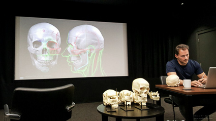 Facial Anatomy at Industrial Light and Magic - important landmarks of the skull