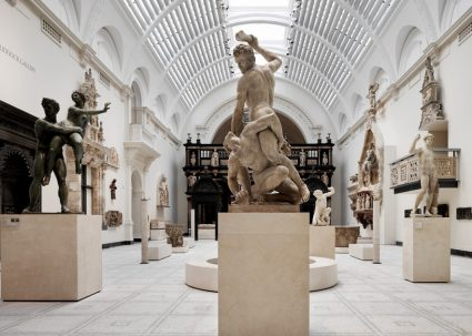 18th centurn sculpture at the V&A museum