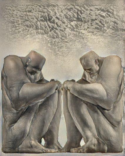 Scott Eaton Artwork - Contemplating Mass Unemployment (second state)