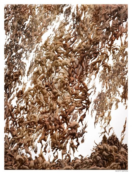 Scott Eaton's Humanity (Fall of the Damned), 210 x 165 cm, archival print on aluminium