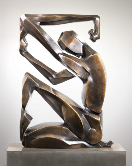 Human Allocation of Space, An abstract figurative sculpture by artist Scott Eaton