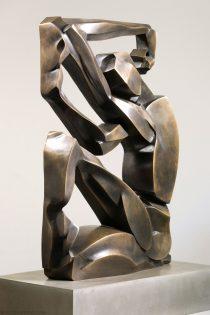 Scott Eaton Bronze sculpture - angular abstract view 2