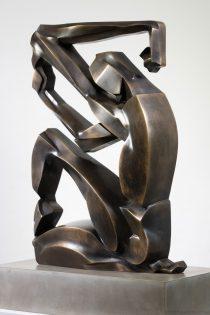 Scott Eaton Bronze sculpture - angular abstract view 3