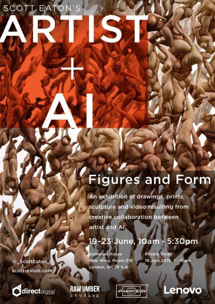 Invitation to Scott Eaton's Artist plus AI: Figures and Form exhibition