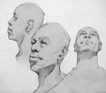 Portrait Studies, Scott Eaton. From BodiesinMotion.photo 3d Scans