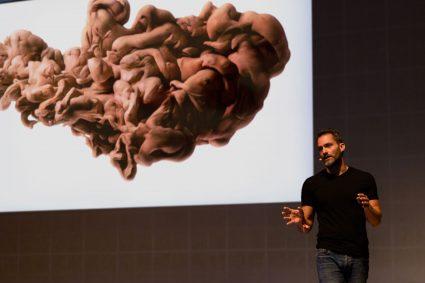 Scott Eaton giving creative AI lecture Malta