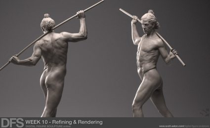 Refining the Figure Sculpture in ZBrush
