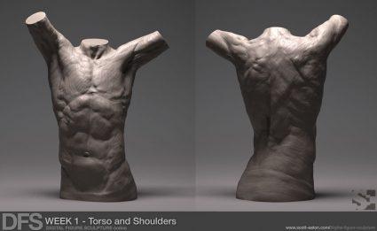 Week 1 Exercise Torso Fragment in Zbrush