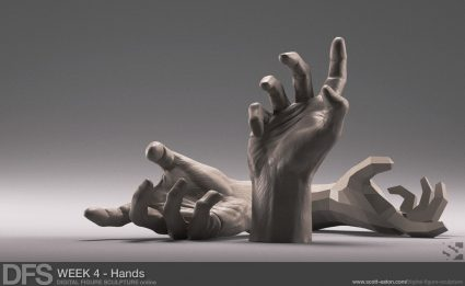Week 4 Exercise - Hands in Zbrush