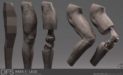 "Week 5 Exercise - Legs in ZBrush"""