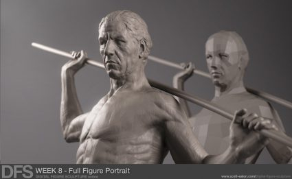 Sculpting the portrait in ZBrush